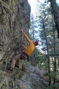 Rock Climbing Photo: Perin Blanchard on Captain Mal.