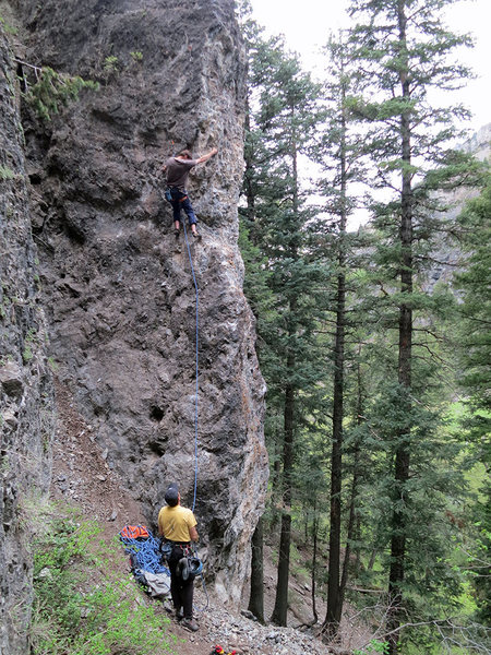 Rock Climbing Photo: Darrell Hodges on Jubal.