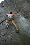 Rock Climbing Photo: Sticking the deadpoint
