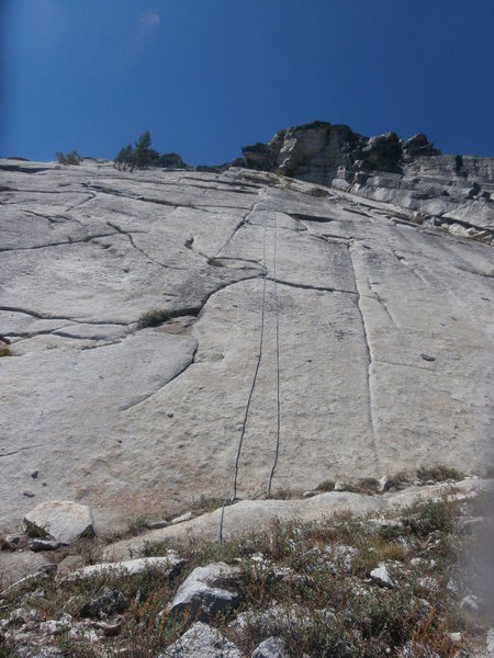 Rock Climbing Photo: 70m. rope lays just right of Street of Dreams.  Yo...