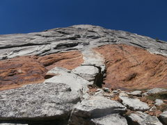Rock Climbing Photo: On the South Face of Power Dome; this is the start...