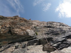 Rock Climbing Photo: looking up P1