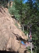 Rock Climbing Photo: Narrow path around the base of the wall at the foo...