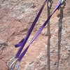 Exercising proper conservation techniques. We can all help by reducing our impact on the anchors. Sport route anchors rigged for top roping.