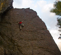 Rock Climbing Photo: When in doubt, run it out!