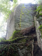 Rock Climbing Photo: Ass, Gas, Grass buttress. The 3 cracks are on the ...