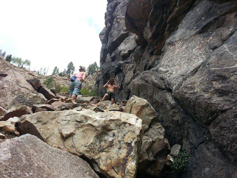 Rock Climbing Photo: chillin in gilman