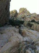 Rock Climbing Photo: Start of the route. Photo Ryan J. Conklin.