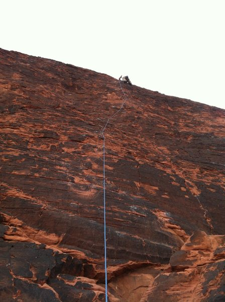 Rock Climbing Photo: Topping out Neon Sunset.