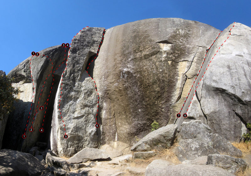 Rock Climbing Photo: Overview of Buck's Bar Dome (Main Area) and Great ...