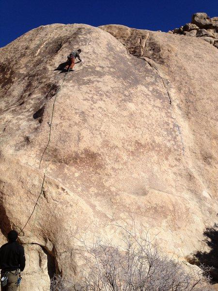 Rock Climbing Photo: Fun slab. Cold day.