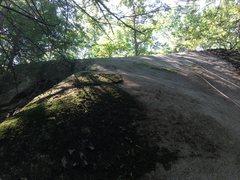 Rock Climbing Photo: Turkish Delight (5.7) climbs the easy arete starti...