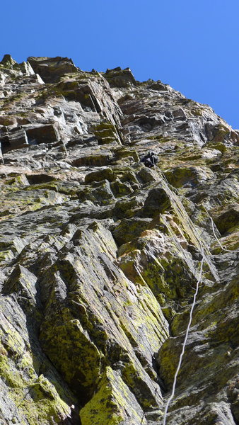 Rock Climbing Photo: Nice cracks and face climbing for 200 feet on P3.