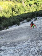 Rock Climbing Photo: The all classic 5.6 Grack, Glacier Point Apron