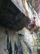 Rock Climbing Photo: Kurt Hager in the crux.