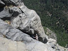 Rock Climbing Photo: Mark Soot cruses the East Butt. of ElCap 5.10,    ...