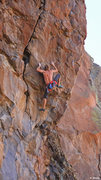 Rock Climbing Photo: Small holds and a powerful heel hook-Ed Strang on ...