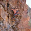 Small holds and a powerful heel hook-Ed Strang on the FA -<br> Ring Around the Rosie (5.13)