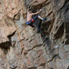Ed on Aarons awesome route<br> 40 - Love (5.12)