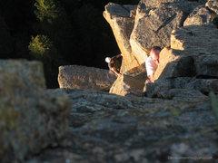 Rock Climbing Photo: Pitch two.