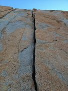 Rock Climbing Photo: Craig's crack. Splitter!!!