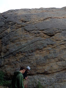 Rock Climbing Photo: A clear, frontal view of East of Eden and its fres...