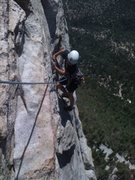 Rock Climbing Photo: Hunter on WMW at age 9...