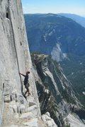 Rock Climbing Photo: Leading up to Big Sandy!!!