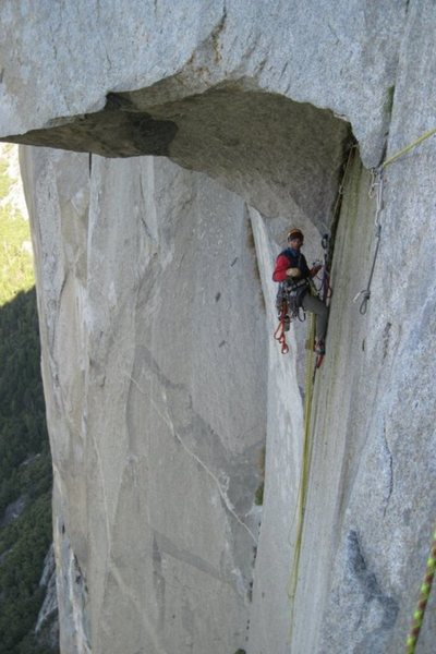 Rock Climbing Photo: Great roof is greater than great!!! :)
