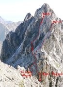 Rock Climbing Photo: SW side of Owen from the Grandstand. A couple of a...