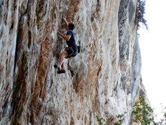 Rock Climbing Photo: Nick on Highway Man