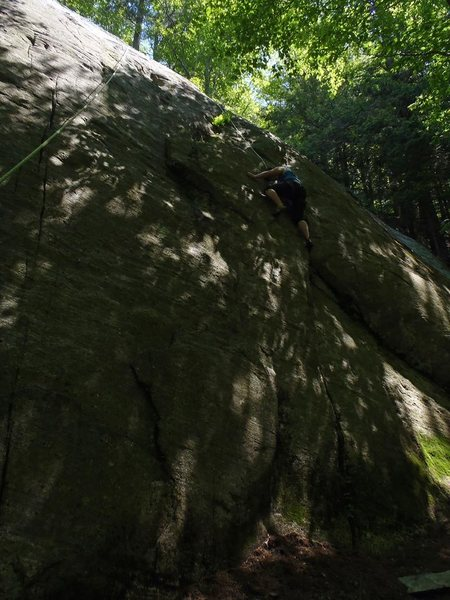 Valerie Bachinsky climbing Fawn Crack 5.7(+), New Buck