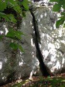 Rock Climbing Photo: Sit start on the right arête climb the crack to t...