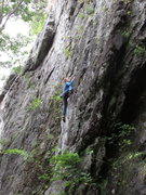 Rock Climbing Photo: This climb is much better than the surrounding sla...