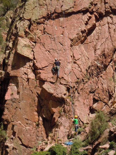 Rock Climbing Photo: Andy Purdy back-leads Cyber Crime with Ben Alford ...