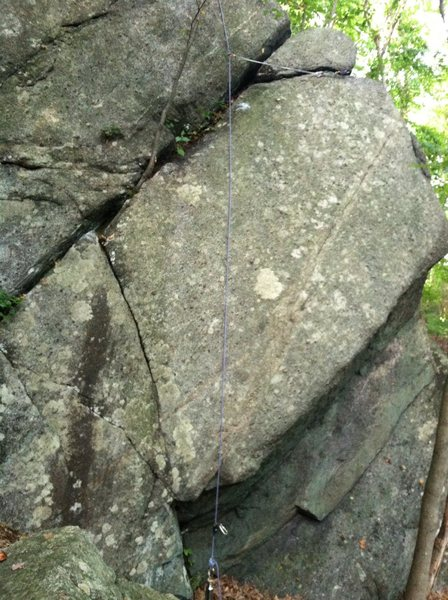 Rock Climbing Photo: Sail V1-2 R - Just before FA w rope solo