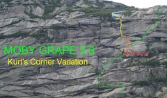 Rock Climbing Photo: Kurt's Corner Topo: Orange - alternate Cave pitch ...