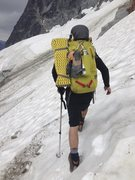 Rock Climbing Photo: The wrong way to cross Stuart glacier. But it sure...