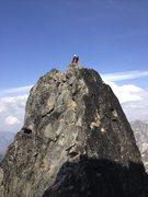 Rock Climbing Photo: Michael enjoying the amazing simuling