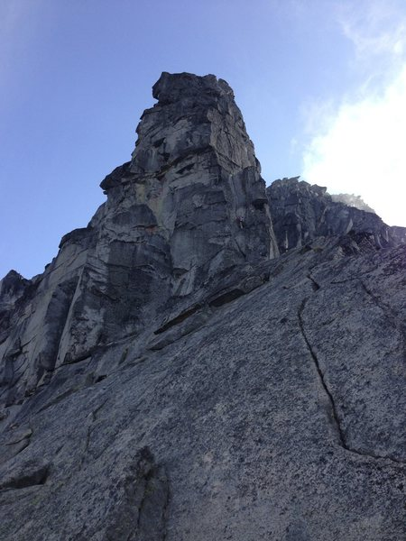 Looking up the slab at Mr. Great Gendarme