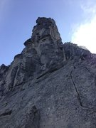 Rock Climbing Photo: Looking up the slab at Mr. Great Gendarme