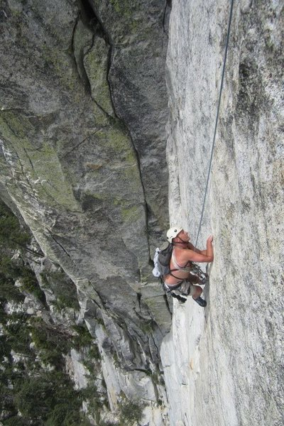 Rock Climbing Photo: John Reinig Seconding money pitch El Wampo!