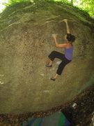 Rock Climbing Photo: Kayte on One Foot
