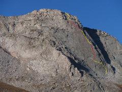 Rock Climbing Photo: Route taken 09/08/2013.
