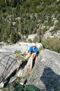 Rock Climbing Photo: Mark Warren Atop pitch 3.