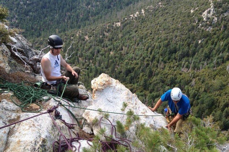 Rock Climbing Photo: Top of last pitch NorthEast Rib.