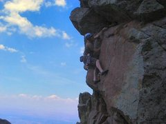 Rock Climbing Photo: FA Second roof, Would You Like Fries With That