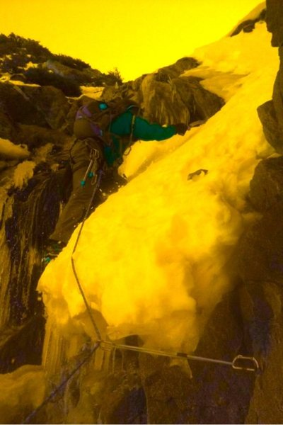 Rock Climbing Photo: Me on one of the North Gullys of BP.