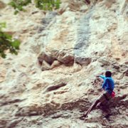 Rock Climbing Photo: On Baby Brothers (5.12a.)
