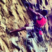Rock Climbing Photo: Pulling some moves on Pigmy mastadon boner (5.12b....